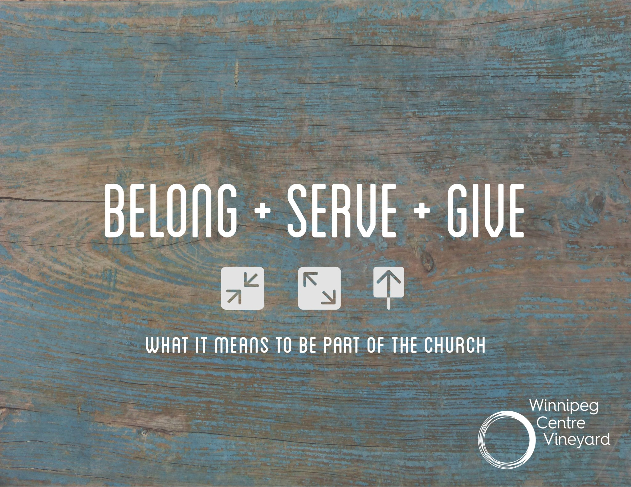Belong, Serve, Give ~ All Members of One Body